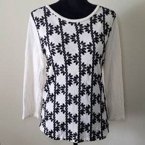 B2G1 J. Crew Embroidered Front LS Top